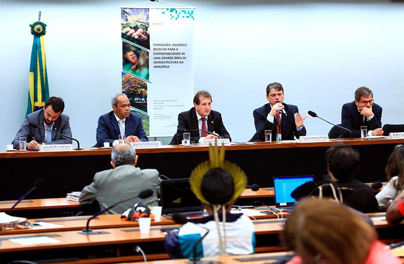 Noticia 1Seminário na Câmara dos Deputados discute desafios ambientais em projeto da Ferrogrão