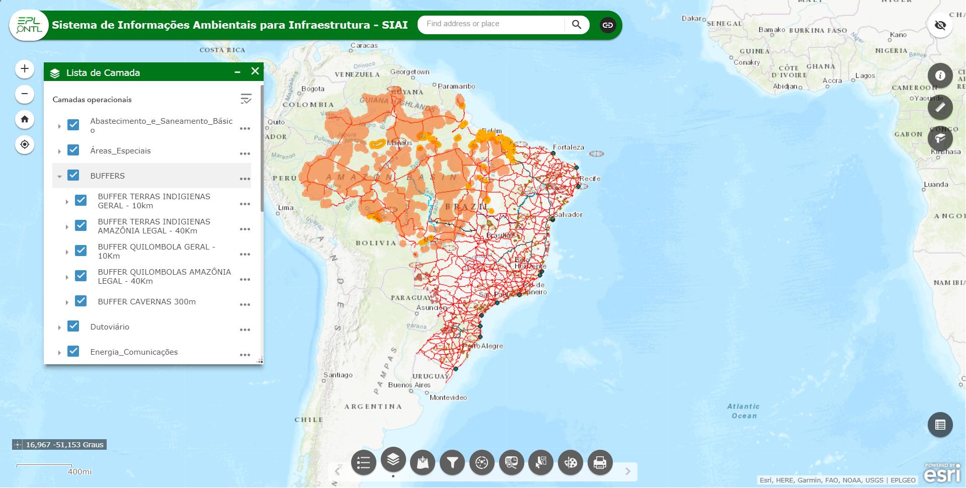 Sistema de Informações Ambientais para Infraestrutura