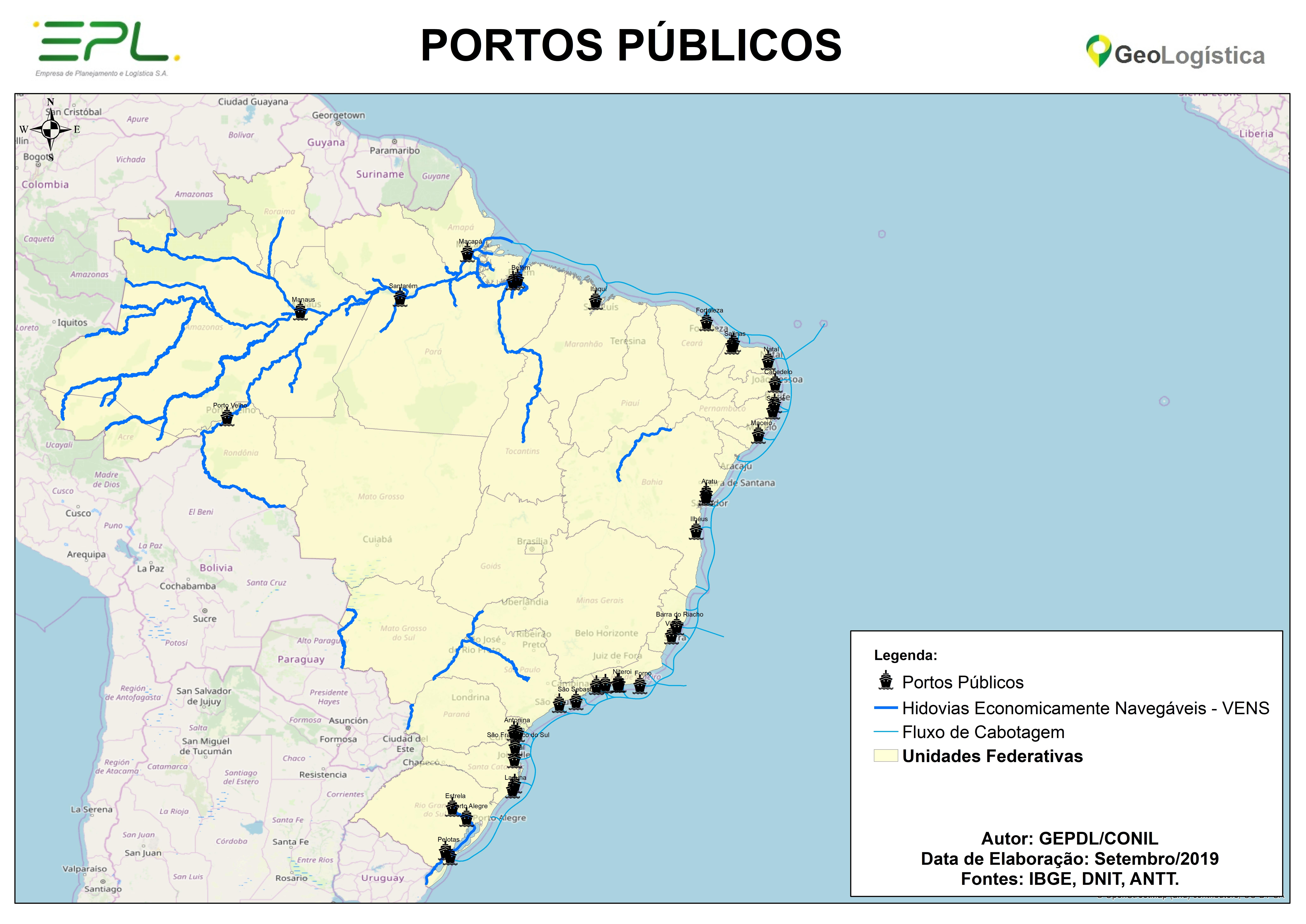 Mapa de Portos Públicos